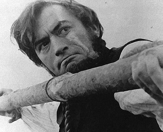 Gregory Peck como el Capitán Ahab