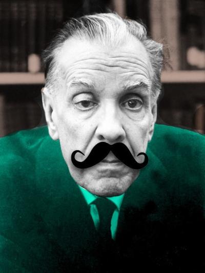 Jorge-Luis-Borges-con-el-bigote-de-Pablo-Katchadjian